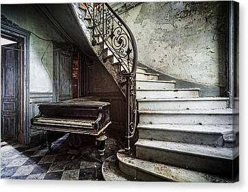 Urban Exploration Canvas Print - Music At Lost Places Old Abandoned Piano by Dirk Ercken