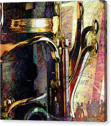 Music Canvas Print by Barbara Berney