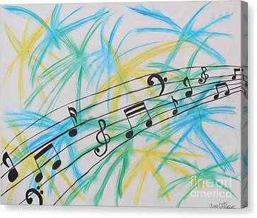 Music Burst Canvas Print by Amy Wilkinson
