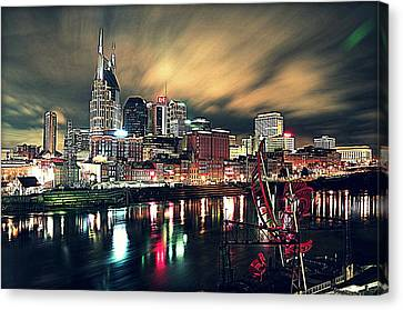 Music City Midnight Canvas Print