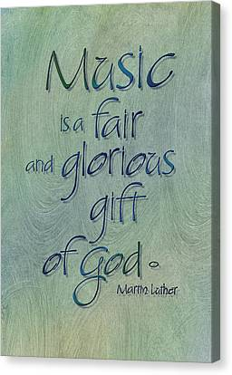 Music Gift Canvas Print by Judy Dodds