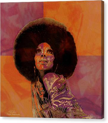 Diana Ross Canvas Print - Music Icons - Diana Ross I by Joost Hogervorst