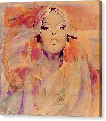 Diana Ross Canvas Print - Music Icons - Diana Ross Il by Joost Hogervorst