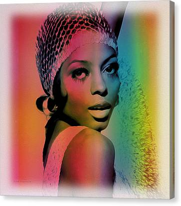 Diana Ross Canvas Print - Music Icons - Diana Ross Ill by Joost Hogervorst