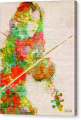 Melody Canvas Print - Music In My Soul by Nikki Smith