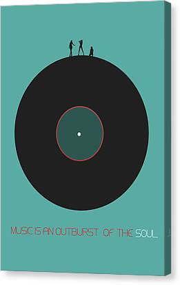 Music Is An Outburst Of The Soul Poster Canvas Print by Naxart Studio