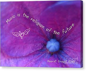 Music Is The Religion Of The Future Canvas Print