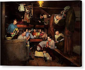 Music - Jam Session 1918 Canvas Print by Mike Savad