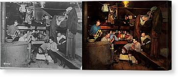 Music - Jam Session 1918 - Side By Side Canvas Print by Mike Savad