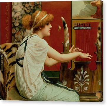 Music Canvas Print by John William Godward
