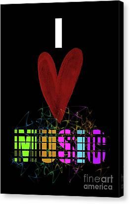 Music Canvas Print - Music Lover by Prar Kulasekara