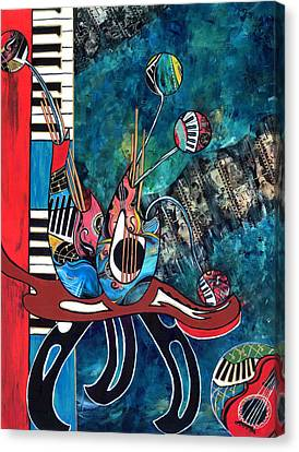 Music Mania Canvas Print by Cheryl Ehlers