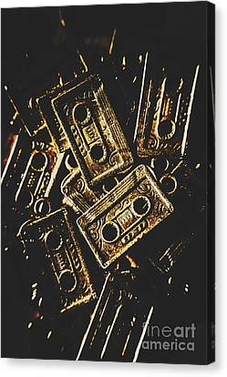 Cassettes Canvas Print - Music Nostalgia by Jorgo Photography - Wall Art Gallery