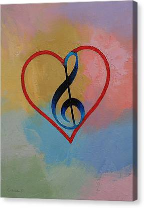 Musique Canvas Print - Music Note by Michael Creese