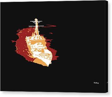 Canvas Print featuring the digital art Music Notes 11 by David Bridburg