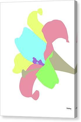 Canvas Print featuring the digital art Music Notes 12 by David Bridburg