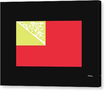 Canvas Print featuring the digital art Music Notes 2 by David Bridburg