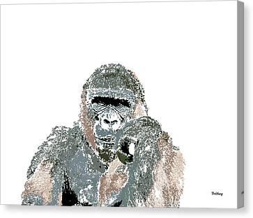 Canvas Print featuring the digital art Music Notes 23 by David Bridburg