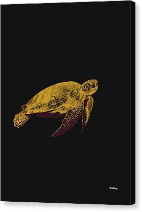 Canvas Print featuring the digital art Music Notes 30 by David Bridburg