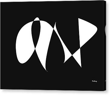 Black Tie Canvas Print - Music Notes 9 by David Bridburg