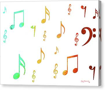 Music Notes Canvas Print by Ken Figurski