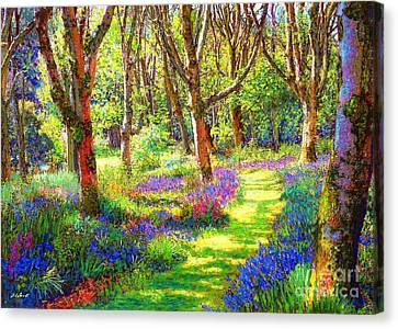 Music Of Light, Bluebell Woods Canvas Print by Jane Small