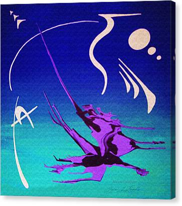 Canvas Print featuring the painting Music Of Ojas by Robert G Kernodle