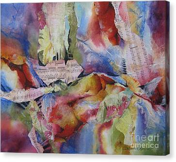Music Of The Night Canvas Print by Deborah Ronglien