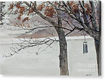 Wind Chimes Canvas Print - Music Of The North Wind by Monte Toon