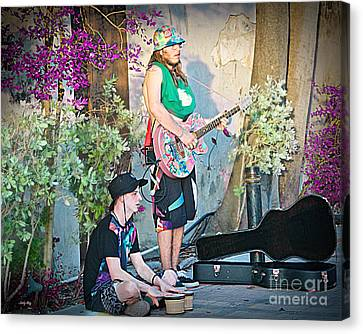 Music On The Side Canvas Print by Judy Kay