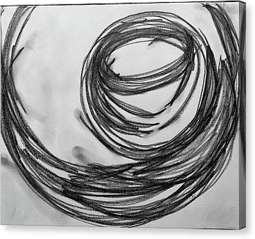 Music Sketch Study Leon Bridges Canvas Print by Brenda Pressnall