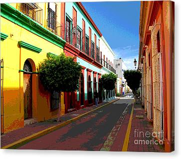 Music Street By Darian Day Canvas Print by Mexicolors Art Photography