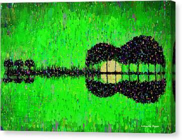 Set Canvas Print - Music World - Pa by Leonardo Digenio