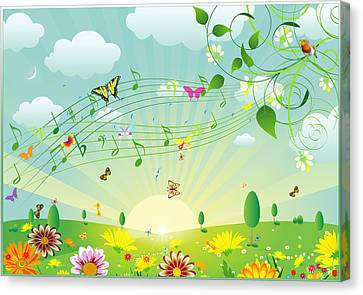 Musical Canvas Print