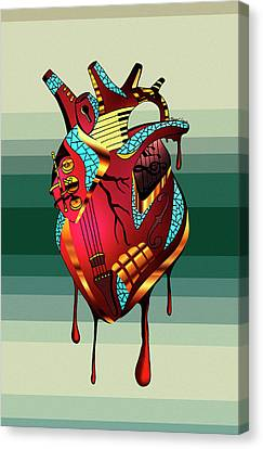 Musical Heart  Canvas Print by Kenal Louis