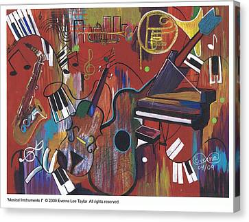 Musical Instruments 1 Canvas Print by Everna Taylor