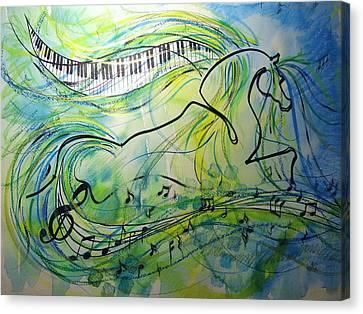 Musical Kur Canvas Print