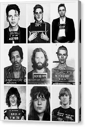 Jim Morrison . Legend Canvas Print - Musical Mug Shots Three Legends Very Large Original Photo 9 by Tony Rubino