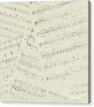 Musical Papers Canvas Print by Pristine Cartera Turkus