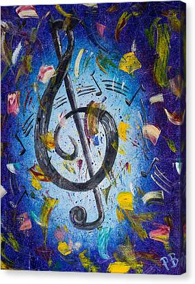 Musical Party Canvas Print by Paul Bartoszek