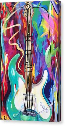 Musical Whimsy  Canvas Print by Heather Roddy