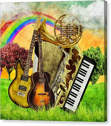 Musical Wonderland Canvas Print by Ally White