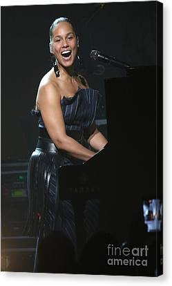 Musician Alicia Keys Canvas Print by Concert Photos