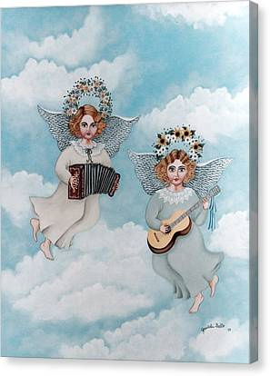 Musician Angels Canvas Print by Graciela Bello