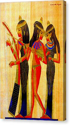 Musicians Of Egypt - Pa Canvas Print