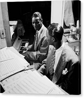 Music's Golden Era - Nat King Cole 1947 Canvas Print by Mountain Dreams