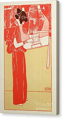 Musik Canvas Print by Gustav Klimt