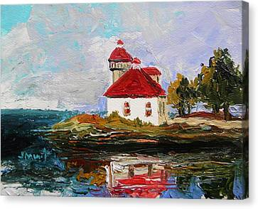 Musing-on The Point Canvas Print by John Williams