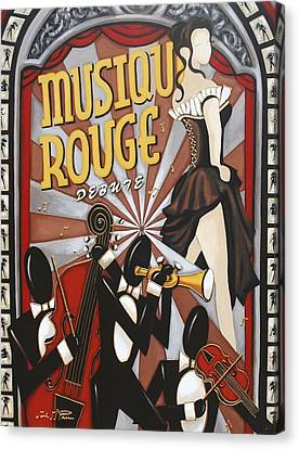 Musique Rouge Canvas Print by Lori McPhee
