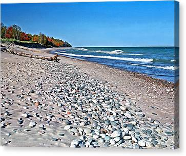 Muskallonge Beach Canvas Print